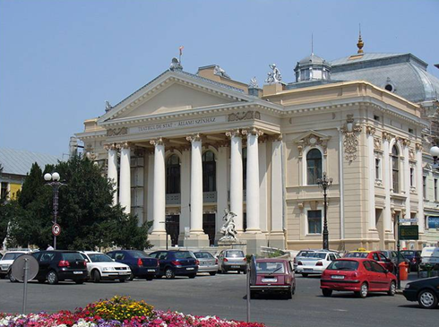The Szigligeti Theatre in Oradea, Romania (built in 1899/1900)