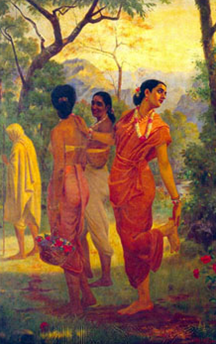 A scene from Lear in classical Sanskrit style