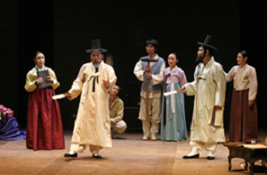 Scene from the remake of The Silvery World, directed by Sohn Jin-Chaek, premiered October 1, at Cheondong Theatre, Seoul, 2008 © Theatre Company Mi-Choo.