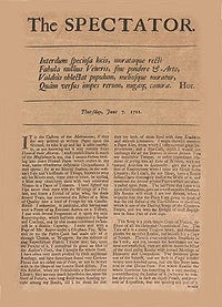The Spectator from June 7th, 1711