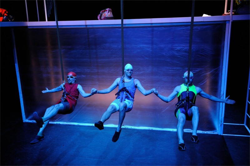 "Ratislav Ballek's production of David Drabek's ""Aquabelles"" for the Slovak Chamber Theatre, Martin. Photo by Brano Konecny"