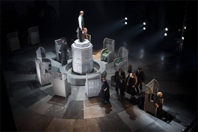 """Zero Liturgy,"" adapted from Feodor Dostoyevsky's ""The Gambler,"" directed by Valery Fokin, Alexandrinsky Theatre St. Petersburg, Russia."