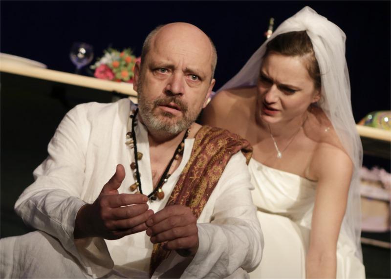 "Juraj Novota's production of Justine del Corte's ""The Comet"" for ASTORKA Korzo '90 Theatre, Bratislava. Photo by Ctibor Bachraty"