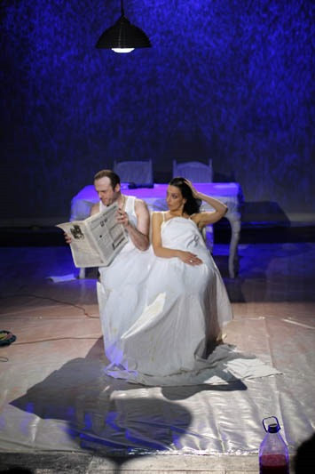 """Fireface,"" by Marius von Mayenburg, directed by David Papava-Gurji, Tbilisi ""Vaso Abashidze"" Music and Drama State Theatre."