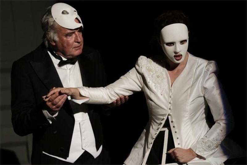 "Roman Polak's production of Eugen Gindl's ""Carpathian Thriller"" for the Drama Department of the Slovak National Theatre, Bratislava. Photo by Ctibor Bachraty"