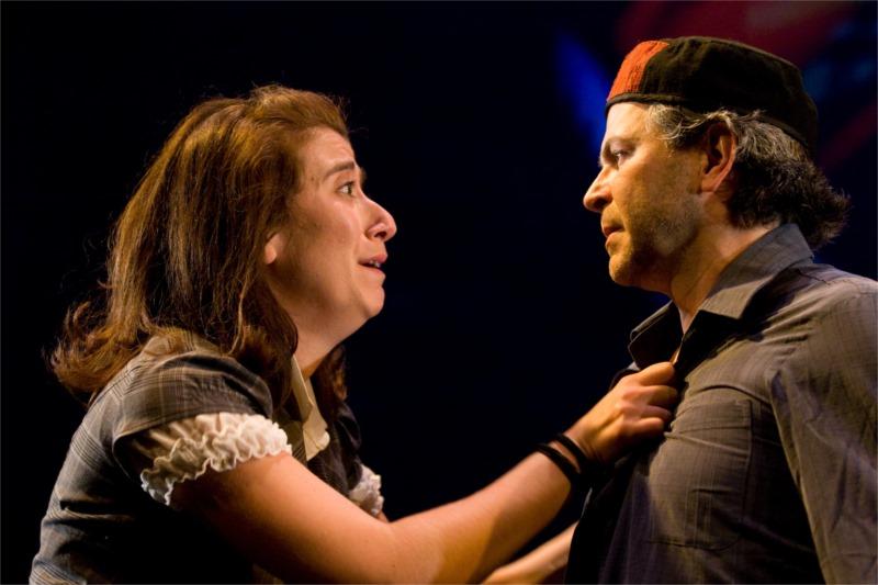 Véronika Makdissi-Warren & Réjean Vallée, Ave Maria, de Koffi Kwahulé, mise en scène de Michel Nadeau, Théâtre de la Bordée de Québec, 2008 Jean-François Landry.