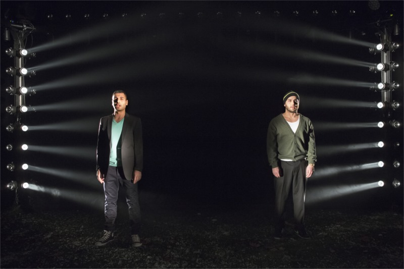 Davood Tafvizian (left) as the narrator, with Pablo Leiva Wenger as his pain-in-the-neck best friend in I Call My Brothers. Photo by Fredrik Sjöberg