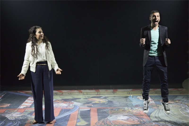 Gloria Tapia as the protagonist's cousin, with Davood Tafvizian. Photo by Fredrik Sjöberg