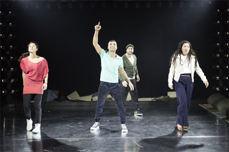 From left: Angelica Radvolt, Davood Tafvizian, Pablo Leiva Wenger, Gloria Tapia in I Call My Brothers. Photo by Fredrik Sjöberg