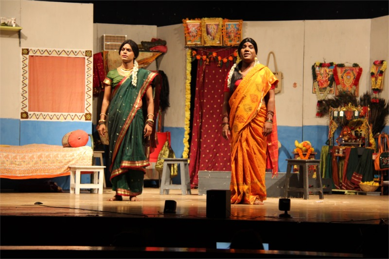 Two Hijda narrators (Sutradhars) of the play. Photo by Ajay Joshi