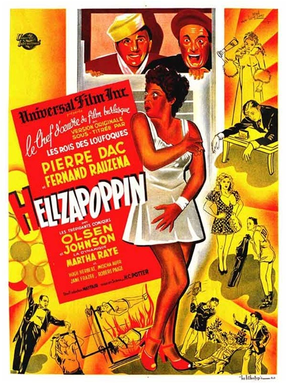 "French poster for the U.S. movie, ""Hellzapoppin"" (1941)"