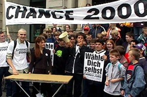 CHANCE 2000 on the '98 election campaign (Photo: Schlingensief)