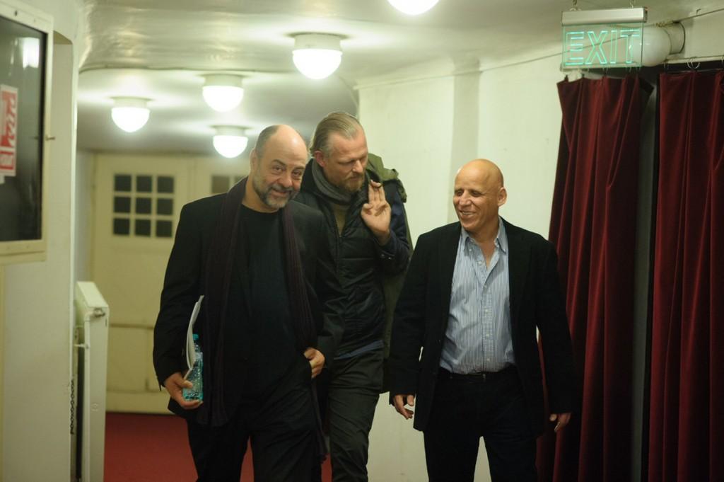 Tompa Gábor, Thomas Ostermeier, Ilan Ronen (President of UTE) © Biró István