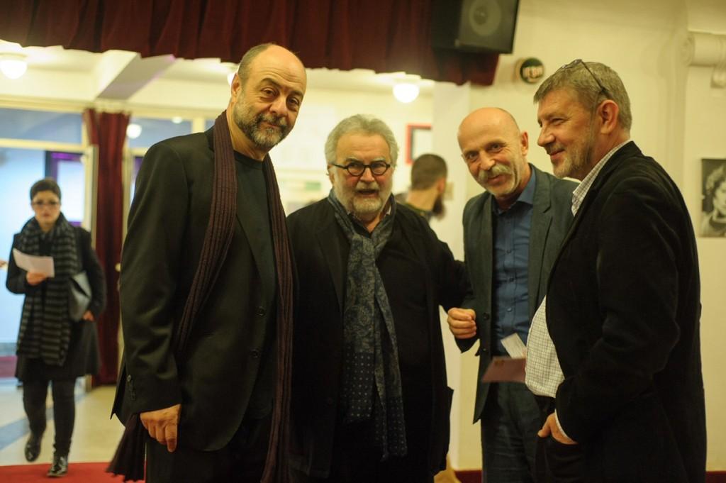 Tompa Gábor, Georges Banu, András Visky, Mihai Maniutiu © Biró István