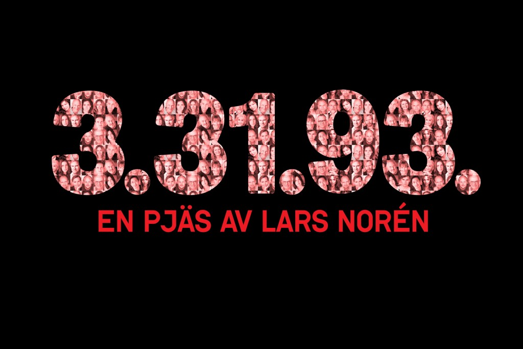 3.31.93 by Lars Norén. World premiere August 23, Klarascenen. Illustration: Anna Jadvi
