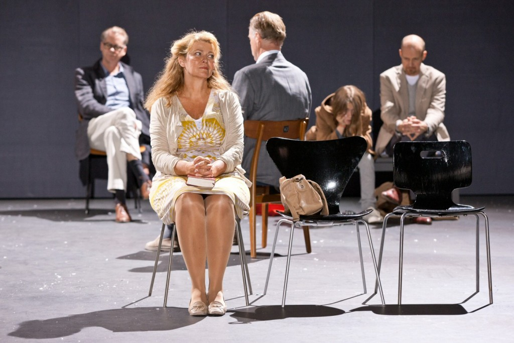 Ing-Marie Carlsson and others in 3.31.93. Premiered at Klarascenen, August 23, 2013. Photo: Petra Hellberg