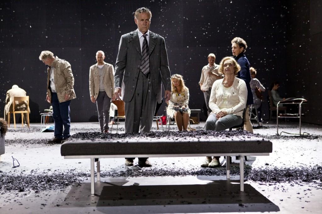 Niklas Falk, Marika Lindström and others in 3.31.93. Premiered at Klarascenen, August 23, 2013. Photo: Petra Hellberg