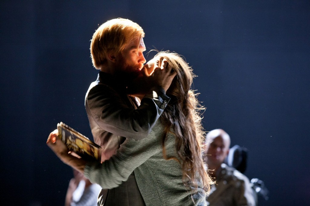 Jörgen Thorsson, Maria Salomaa and others in 3.31.93. Premiered at Klarascenen, August 23, 2013. Photo: Petra Hellberg