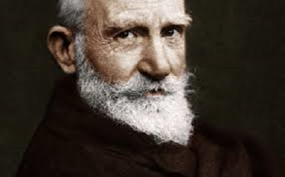 Bernard Shaw [Bernard Shaw wanted to dig up Shakespeare's bones so that he could throw stones at them]