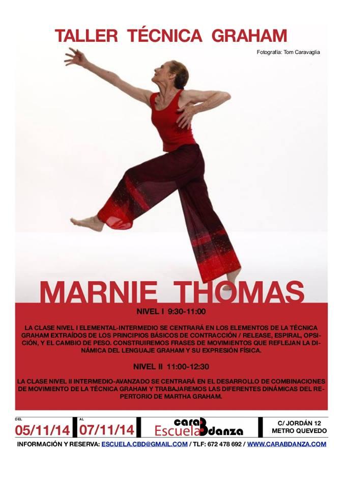 Marnie Thomas Wood: Graham Technique workshop at Escuela caraBdanza, Madrid, Spain. November 2014. Photo by Carlos Caravahal
