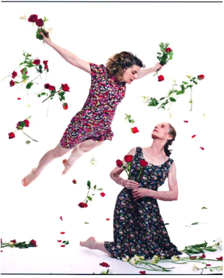 """""""Flower Fiction"""": Duet created and performed by Marnie Thomas Wood and Ellis Wood. New York, 2013. Wood Collection"""