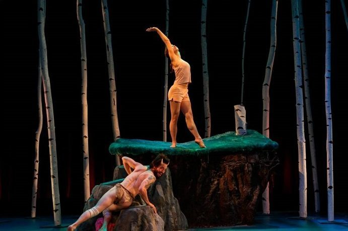 Gregg Mozgala, and Lucie Baker in Tamar Rogoff's Diagnosis of a Faun