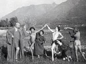 Rudolf von Laban and his dancers, Ascona, 1914. Photo: Johann Adam Maisenbach