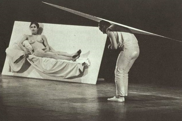 Carolee Schneemann and Robert Morris—Site, 1964. Photo: Peter Moore