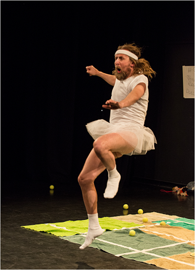 Beating McEnroe, created by Jamie Woods, Ellie Griffiths, and Wendy Hubbard, and interpreted by Jamie Woods. Photo: Alex Brenner.