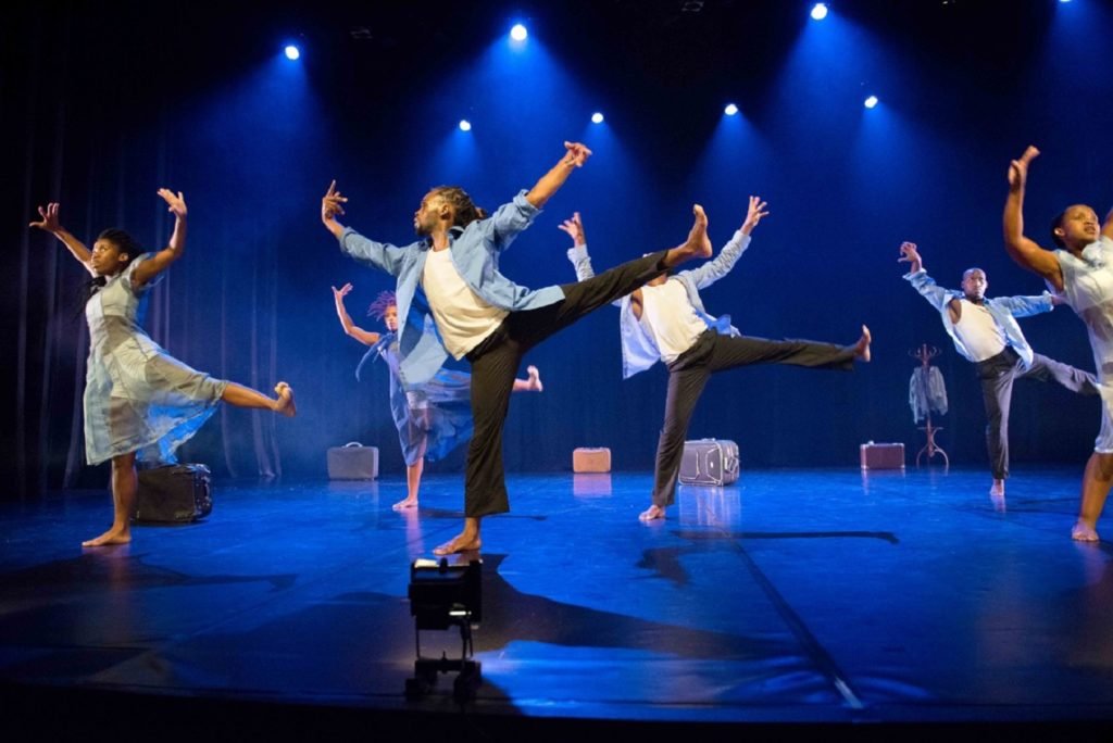A refined hybridity underpins Homeland, a group memoir skillfully crafted by guestchoreographer Sbonakaliso Ndaba for Flatfoot Dance Company's annual season at the Eliizabeth Sneddon Theatre, University of KwaZulu-Natal (Howard College Campus), in Durban, April 6-10, 2016. Photo by Val Adamson