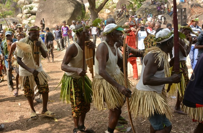 Mada folk performers with panpipes, a rare musical instrument in Africa indicating evidence of early cross cultural influences on classical Nigerian Dances http://www.encyclopedia.com/topic/panpipes.aspx) Photo credit: Nzeh Mada Festival Secretariat, Akwanga
