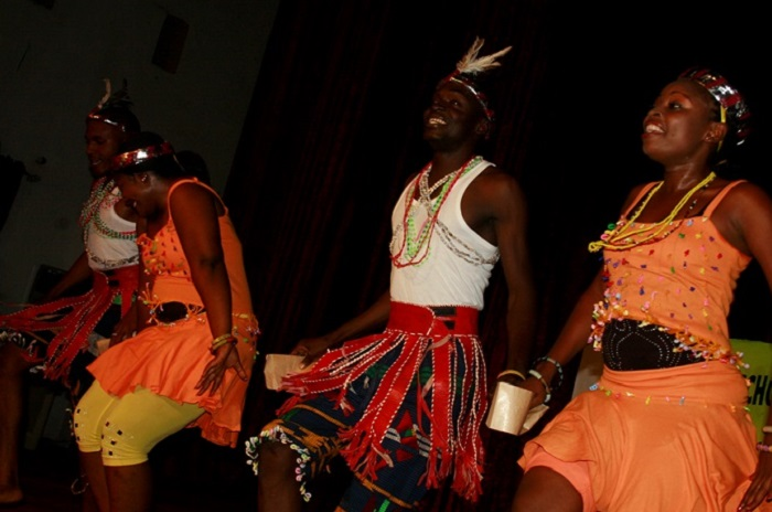 "Nasarawa State Performing Troupe on stage with the 2010 award winning Nigerian ""Njieh Kre"" Performance as choreographed by Arnold Udoka Venue: Cultural Centre Uyo, Nigeria"