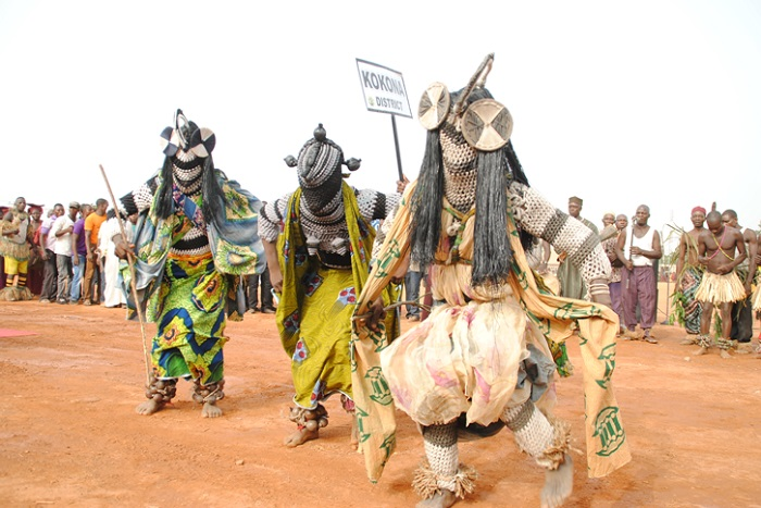 Mada Njwi Performance, Masquerades are still largely sacred performances in Africa todate). Photo Credit: Nzeh Mada Festival Sectretariat, Akwanga