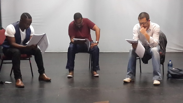 """From the first reading of """"When Swallows Cry"""" at the Market Theatre in August, 2016"""