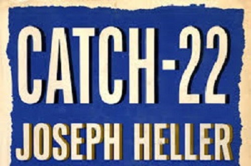 Joseph Heller's Catch 22 appeared within months of Esslin's book. It was not included, and is still not usually listed, in the books about the Absurd, because it does not feel as if it belongs to that genre
