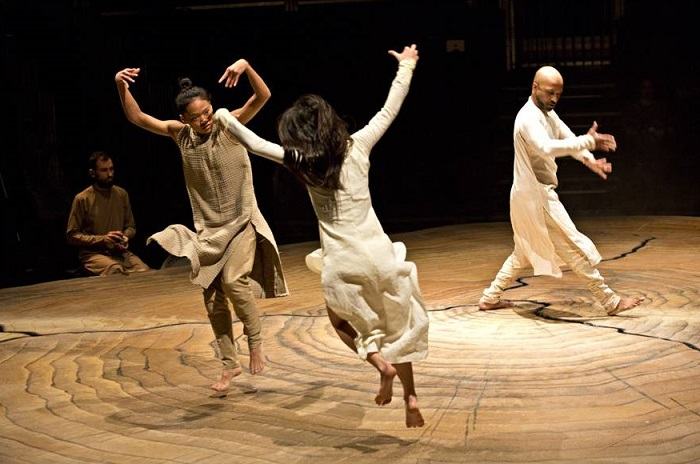 Fig. 6 Ching-Ying Chien, Christine Joy Ritter and Akram Khan (center) in Until The Lions at The Roundhouse, 2016. Photo: Jean Louis Fernandez.