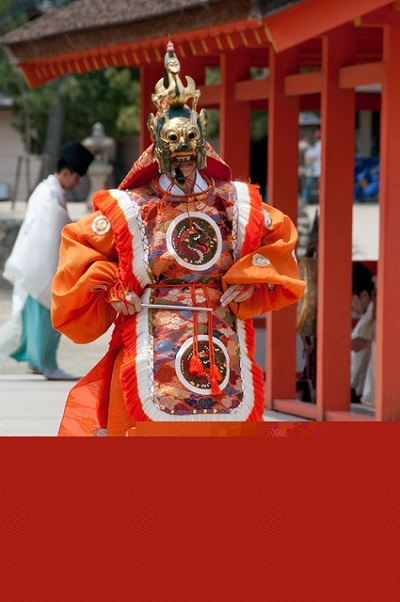 The elegant courtly dance bugaku and the masked dance theatre gigaku, were developed in Japan during the Nara period(640–794 AD) based on Chinese and Korean dance and music theatre
