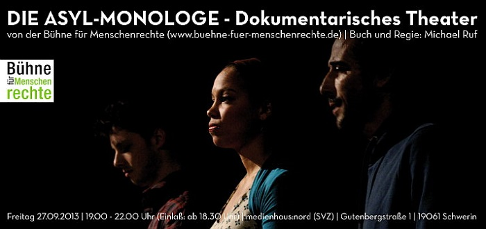 The advertising poster of the Asylum Monologues