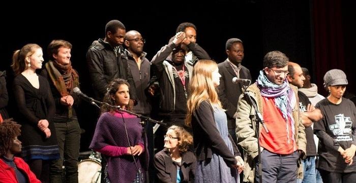 Asylum Monologues Special Performance at Heimathafen Neukoelln, December 2013, Photographer Milan Benak