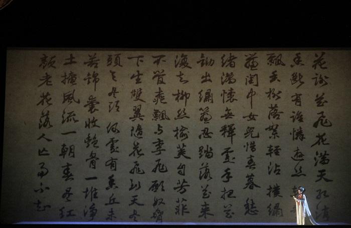Soprano Pureum Jo as Dai Yu. Photo: Dong Xudong, Xinhua