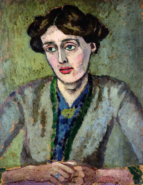 The melancholic profile of Virginia Woolf, by the painter Roger Fry, 1917