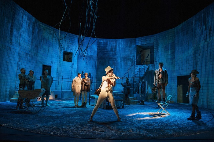 Jakub Kopecký's set mirrors the distorted reality of Woyzeck. Photo by Michaela Svobodová