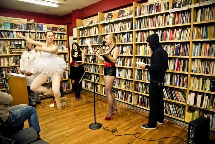 """We, Monsters"" by Zarina Zabrisky at Pegasus Book Store, Berkeley, November 2013. Photo by Julie Michelle Sparenberg"