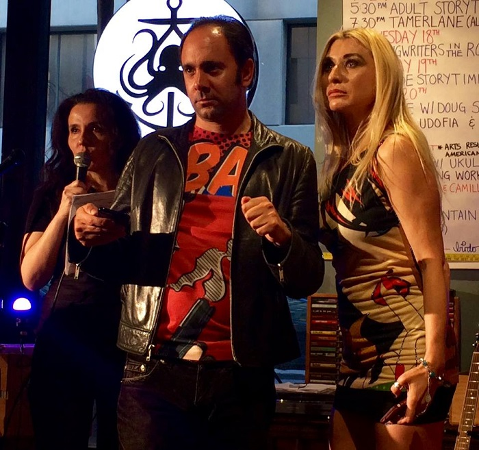 """Americana,"" at Octopus Literary Salon, 21 May 2016. Photo by Lena Avgust"