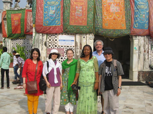 From left: Deepa Punjani, president of Indian section of the IATC, Sangae Chang (Korea), Margareta Soerenson (Sweden), Prof. Ngozi Udengwu (Niger), Michel Vais (Canada), and Yun-Cheol Kim (Korea).