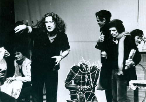 "Boal with students of the ""Centre du Théâtre de l'Opprimé"", Paris, 1979 © Augusto Boal Archive UNIRIO"
