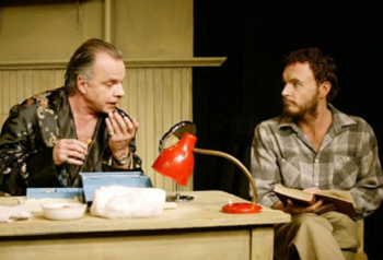 Sean Taylor and Jason Ralph in Exits and Entrances © Courtesy of the Baxter Theatre