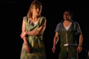 Evelyne Rompré (Marie) et Marc Béland (Woyzeck) © Lydia Pawelak