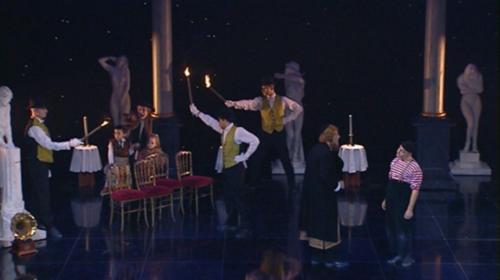 """""""Mesguich 2"""" : Molière, Dom Juan, mise en scène Daniel Mesguich, © 2002 Carole Guidicelli."""