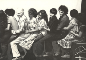 13b Peter Brook with members of the audience doing an exercise directed by Boal at Teatro Cacilda Becker, Rio de Janeiro, 1980 © Augusto Boal Archive UNIRIO